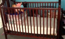 Set is three years old. Comes from smoke and pet free home. Included with set: crib mattress and mattress cover, change table pad with cover, and two flannel fitted sheets for crib in tan. This ad was posted with the Kijiji Classifieds app.