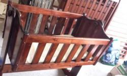 never used rocking crib. sold wood This ad was posted with the Kijiji Classifieds app.