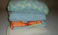 Set of  6  crib size blankets in each  lot - some are  crochet & very  warm & beautiful.. smoke * pet  free home ,,each set   $10.00