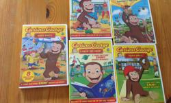 Curious George TV Show and Movie DVDs - $6 Each - Swings into Spring (Movie) - Plays Ball (includes 8 shows from the PBS Kids TV series) - A Day in the Library (includes 8 shows from the PBS Kids TV series) - Gets a New Toy (includes 8 shows from the PBS