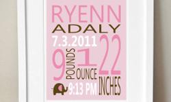 This modern 8x10 typography birth print is a great compliment to any nursery or makes a great baby shower gift. Include your little ones birth info for a treasured and unique keepsake.   We can customize any print to match your little one's room!