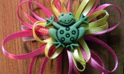 Frog on a Ribbon Flower is $4.00 Sheep Clip & Flower clip set - $3.00 Koala is $3.00 Crabs - $3.00 for all 3 (two small one larger) Hand made hair clips with non-slip gripper. See other ads for more clips