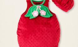 VERY CUTE STRAWBERRY COSTUME Costume has only been worn once and is in great condition. Comes from a smoke free home. You probably won't find this costume at any local store. Comes with tights (12-24 months) shown in the second photo. Asking $20. If the