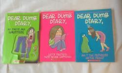 First three books in the series by Jim Benton. Bought new for $7 each plus tax. Condition is good but the green book has a rip in the cover. All three books for $5.
