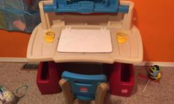 Kids desk and chair. In great shape. My kids loved having their very own desk.