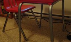 I have really cute student desk or art center for sale with matching chair. It is red so it would work for a girl or a boy. It is in perfect, clean condition. Legs on the desk are height adjustable for growth. My child has outgrown it so need it gone.