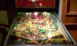 Mid 1980's Gottlieb Devil's Dare Pinball.  Lower flippers rebuilt, mainboard recently refurbished, back glass replaced, manual included.  It's in decent usable condition.