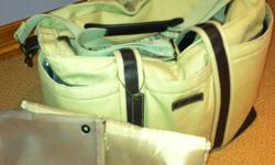 Eddie Bauer large diaper bag, great for traveling, pockets inside & out, excellent condition, paid $70 brand new, change pad & zippered bag included This ad was posted with the Kijiji Classifieds app.