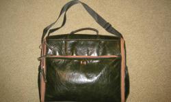 Vegan leather green diaper bag - never used.