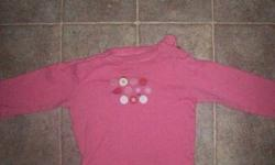 Girls long sleeve diaper shirt- good condition