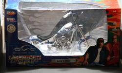 "I am selling 7 1:10th scale diecast Orange County Choppers motorcycles from the Discovery Channel TV show ""American Chopper The Series"".  All of these diecast  choppers are in their original boxes and have never been opened.  All of these choppers were"