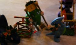 1 rubber maid full of Little Tikes dinosaurs, comes with rubber maid