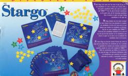 STARGO  $15 Your child will delight with this classic game of Bingo that has a new cosmic twist. It is a good way to introduce your child to astronomy. Each of the thirty game cards feature glow-in-the-dark constellations with interesting facts and a