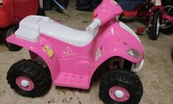 Disney battery operated ATV.  Only used once - in great condition