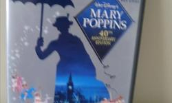 MARY POPPINS, English and French set, 40th anniversary edition $5 TINKERBELL, French and English DVDs $5 CHARLOTTE'S WEB, $4 WINNIE THE POOH, A VERY MERRY POOH YEAR, $4 All of the CDs are in perfect condition, but our granddaughter has outgrown them. We