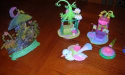 """Furniture and background scenes from the Disney """"Fairy"""" collection."""