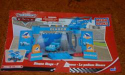 This is a complete set my son loved it. It is a full town of CARS characters Dinoco Stage, Lightning McQueen, Mack Luigi's Garage and Tow Mater Gas Station. I have pictures from the box to show set up and instruction book.
