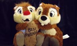 Brand New stuffed toy from the Disney Store in Orlando. They are the characters ?Chip 'n Dale?. If interested, please call (519) 471-4711 if in the London area. If ad is still posted, it?s available.