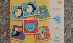 DJECO (France) Memo wooden memory game, 15 firm.