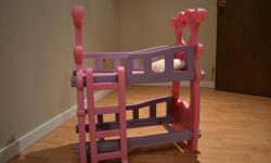 Bunk beds for doll with ladder for sale from pet free smoke free house.