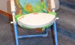 A very nice doll chair 4-sale. With Playtable. It plays music, but the Batteries are dead and need to be replaced. It is also a rocking chair. It is used, but in  good condition. Only: $ 10.00 Ph # : 434-9882 See my other Ads for more Doll stuff