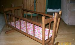 wooden doll cradle - like new shape
