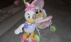 cute and in great condition........large daisy, pluto and a doll stroller for sale! asking only $15.00. comes from a smoke free home