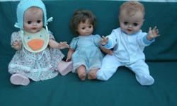 """nice collection on Dolls, older Dolls, 19"""" Dolls and other Dolls, all in good condition, selling the Dolls for $10 each - BUY 1 get 1 FREE - * View seller's list - for more items, all very low priced. Come and check it out. * Location: Langford 980 Furber"""