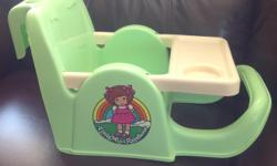 The hook on the booster seat fits over the back of a kitchen or child's chair. I am in Regina a couple times per week for convenient pickup.