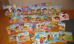 You get everything for $20 !!!!   70+ books   Games: Either Dora or Diego 123 match game I Spy Matching Game Dominos   Diego Puzzle   Add $5 for my gas and I may deliver it.   We bought everything new.  Gently used by 1 child.   Non smoking house and no