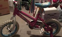 selling a my daughter's bike bought it last year from toys r us for 125$, but she outgrew it ,in perfect working condition , 12 ,1/2 inch ,comes with a bell and training wheels