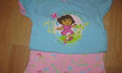 What little girl does not love Dora? Treat her special with these cute Dora Skort sets ($5 each or $12 for 3) and Dora pj sets ($3 each) $15 for everything size 2T, excellent condition, no rips or stains, smokefree home