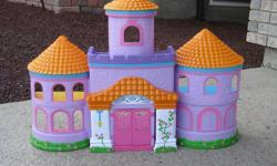 Dora Play house and accessory toys are in excellent condition.
