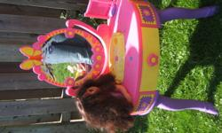 Dora Vanity Table with stool and accessories for sale for $8.00
