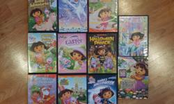 I have 11 Dora the Explorer videos $2 each or take all 11 for $15 Call or text 250-816-4646