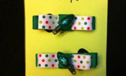 Winter/Christmas themed Hair Clips $5 each This ad was posted with the Kijiji Classifieds app.