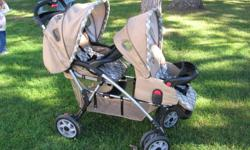 double stroller, very good condition. $100. Can be folded.