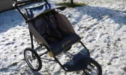 Double Stroller for jogging in pretty good shape but has wear in the seams as u can see in the pic below.