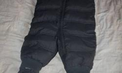 Very warm down filled Baby Gap snowsuit sized 6-12 months worn maybe 5 times in perfect condition with booties paid 130.00 asking 60. OBO