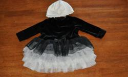 Children's Place dress in great condition, only worn a few times. Black velour top and layers of tulle that makes up the tutu  bottom. 6-9 months   White hat that looks very cute when worn with this dress. Hat also from Children's Place   Items are from a