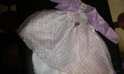 three dresses 12 month is size 25.00 each dress