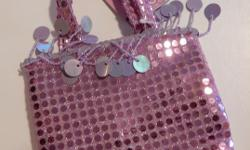 Shoes and Purse offered as a matching set. Light purple colour decorated with sequins. Footbed measures 7 in. Never used. Original packaging. Smoke and pet free. Cross posted. First come.