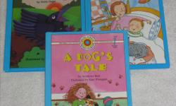 These Early Readers Hardcover books are BRANDNEW and $2.00/each LEVEL 1: PRESCHOOL - GRADE 1 (beginning to read) ** Simple Words ** Big Type ** Picture Clues ** Word Repetition - A Dog's Tale - Sleep Tight, Pete - Two Crows Counting