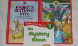 These Early Readers Hardcover books are in EXCELLENT condition and are $2.00/each LEVEL 2: GRADE 1 - 3 (reading together) ** longer sentences ** Smaller Type - Rabbit's Birthday Kite - Too Many Mice - Beavers Beware! - Annie's Pet - The Mystery Glove All