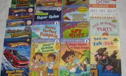 These Early Readers Softcover books are in EXCELLENT condition, with slight wear to the corners of the cover and are $2.00/each or buy 3 books for $5.00 *SPECIAL: BUY ALL 15 BOOKS FOR $22.50** LEVEL 1: PRESCHOOL - KINDERGARTEN (beginning to read) **