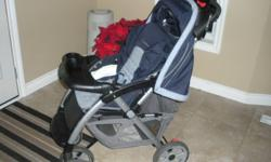 - good condition - great for walking, shopping at the mall - good from 6mths - 3yrs+ old - eddie bauer infant carrier can be attached to stroller (bar included) - lay down so child can nap in stroller - good sized basket under carrier - snack and drink