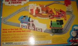"""Thomas the tank engine track with battery operated train - $10 Board games """"Acronym"""", """"Triominoes"""" $3 ea toy scales with weights - $5 plastic solar system - $1 Metal Molder Die Cast Factory, make key chains etc - $5 Board game """"Mousetrap"""" - $3 Board game"""