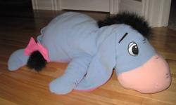 Over sized Eeyore would look great in any Whinnie the Pooh nursery!! Comes from a smoke free home :)