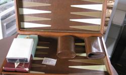 Elliot Lake: Backgammon game case, cribbage and Lexicon game. All complete and in good condition.$15.00 the lot.