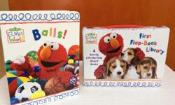 New, never used set of 4 lift the flap board books featuring Elmo from Sesame Street. Great for a gift or your little one. Please see my Seller's List in the top right corner for other children's items for sale. Appropriate for ages 10 months - 2.5 years.